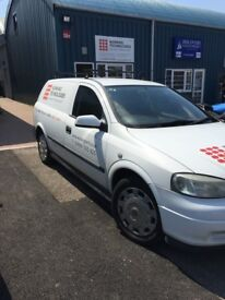 White Astra Van ( logos will be removed )