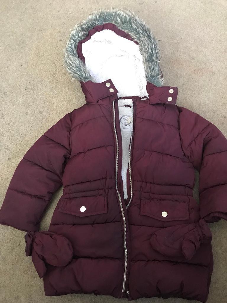deda5b341 Girls Winter Coat Age 2-3