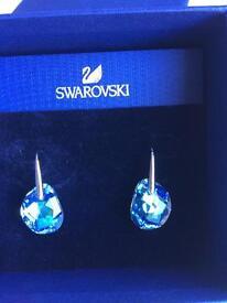Azure Blue Crystal Swarovski Earrings