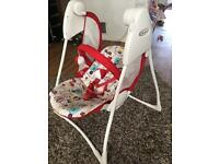 Graco 2 speed automatic baby rocker