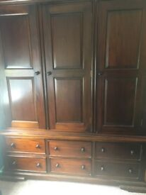 Mahogany real wood bedroom furniture