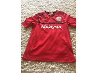 Cardiff city home shirt