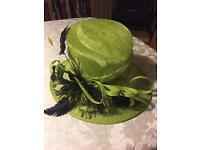 Lime Green Hat - (Worn Once So Like New)
