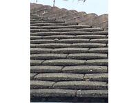 Concrete tiles and bonnets