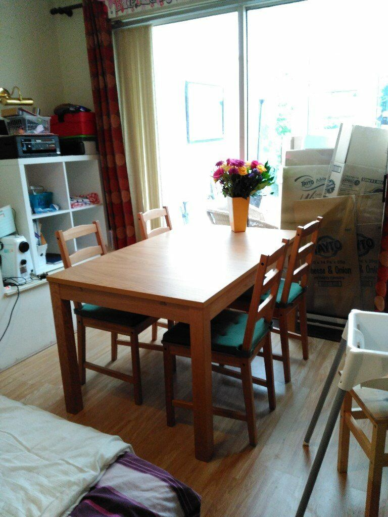 Dining Table 4 Chairs Chair Pads