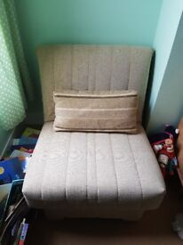 Single sofa bed/chair bed. John Lewis.