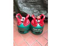 Two 5 Kg Calor gas bottles