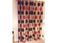 Patterned Living Room Curtains