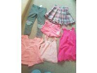 Girls vest, blouse, skirt, shorts, leggings and dress size 2-3 years