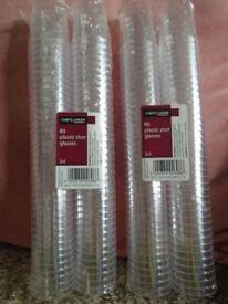 80 plastic shot glasses
