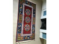 Antique Prayer Rug from Tibet/India