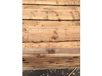 🌷Brown Wayneylap New Fence Panels > Tanalised