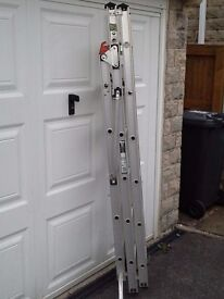 ABRU X 4 Three Section Combination Aluminium Ladder 3.9 m 150g