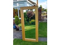 Large Mirror framed in Solid Pine. 170cm x 80cm. £75