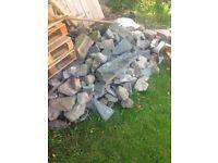Pond or rockery stones