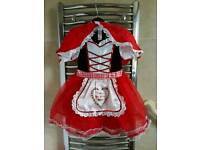 Girls Little Red Riding Hood dress with hooded cape