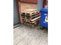 Free wooden pallets available for collection