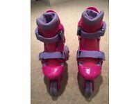 Kids adjustable 3 wheel roller skates boots