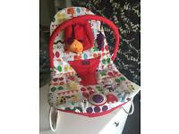 Mamas and Papas Jungle Baby Bouncer with detachable mobile
