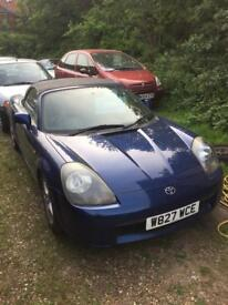 W reg toyota mr2 roadster convertible 11 months mot