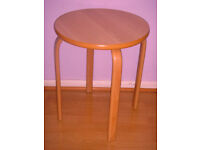 Wood Coffee/Side Tall Table from Shackletons High Seat Chairs RARE High Quality