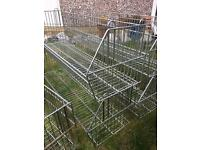 Solid wire stackable baskets, interlocking