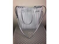 Zara light blue pleated ladies handbag
