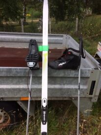 Xc skis boots and poles