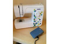Barely Used BROTHER LS14 SEWING MACHINE with box! Like New!!