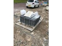 Pallet of Redland Mini Stonewold roof tiles