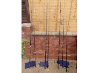 Century Fishing Rods x 2 & 1 x Spod Rod!
