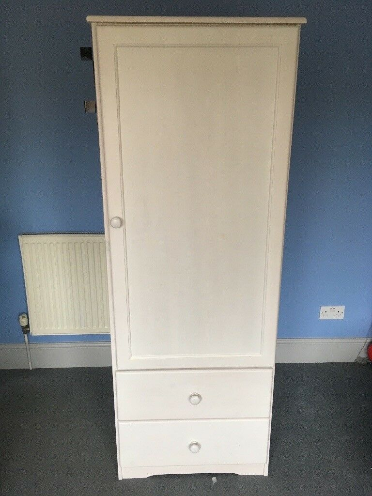 White Single Nursery Wardrobe