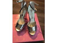 Silver Miss Selfridge heels