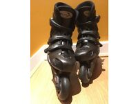 Black Rollerblades - Size: EU 39, UK 6, US 7