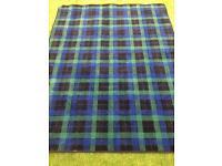 Tartan rug , back watch , top quality, brand new,6 ft 6 x 5 ft,bargain £40
