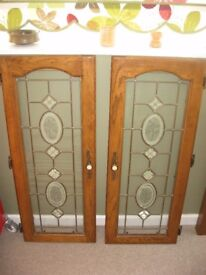 Glass leaded cabinet doors