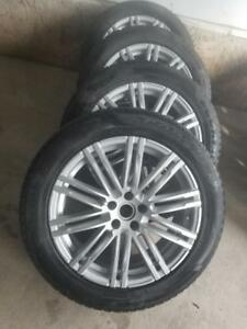 AUDI Q5 19  INCH  ALLOY WHEELS WITH  PIRELLI SCORPIAN ULTRA HIGH PERFORMANCE 235 / 55 / 19 WINTER TIRES