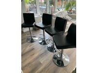 Set of 4 Gas-lift bar / kitchen stools
