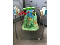 Fisher price jungle baby swing