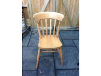 VINTAGE SHABBY CHIC RUSTIC PINE KITCHEN DINING CHAIR - Ideal Upcycle