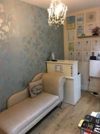 Beauty treatment rooms for rent.