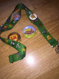 Moshi monsters lanyard and badges