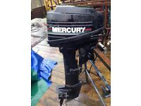 MERCURY 15HP OUTBOARD ENGINE WITH REMOTES