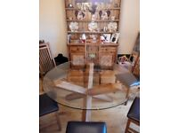 Glass Top Round Dining Table 180cm
