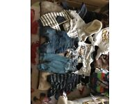 Variety of baby clothes