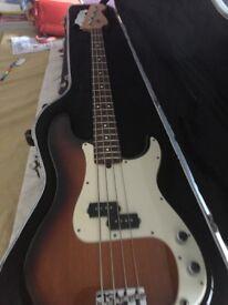 Fender 1996 sunburst p bass USA in fender hard case