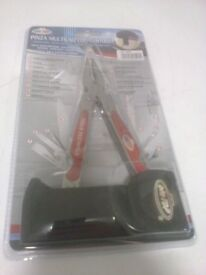 stainless steel pinza multiuso con custodia standard plier & wire cutter brand new