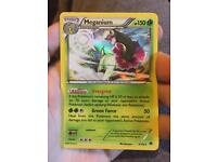 Rare Holo Meganium and Rare Holo Machamp Trading Cards