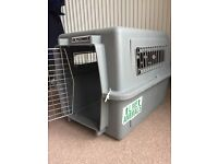 Small dog/cat crate. Petmate Sky Kennel. Heavy duty yet lightweight. Durable plastic.