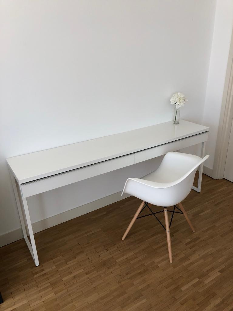 Cool Ikea Modern White Gloss Desk With Drawers Hallway Console Table In Holborn London Gumtree Download Free Architecture Designs Rallybritishbridgeorg